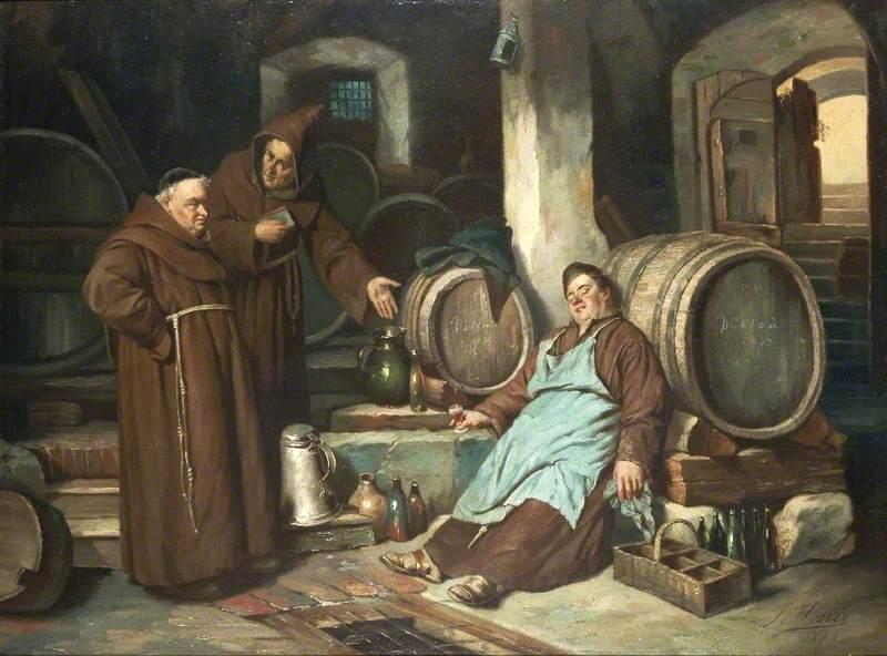 Joseph Haier - Monks in a cellar 1873